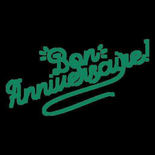 Bon anniversaire lettering letras de aniversário Transparent PNG