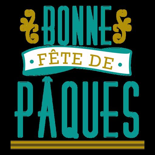 Letras de Bonne Fete de Paques Transparent PNG