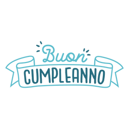Buon compleanno lettering