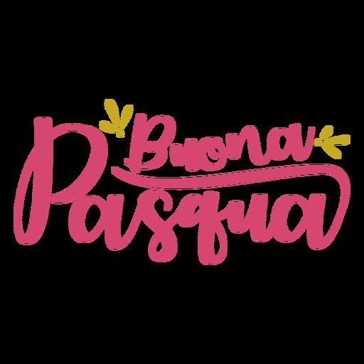 Letras de Buona pasqua Transparent PNG