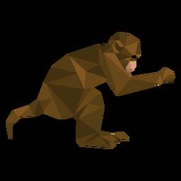 Macaco-prego saltando lowpoly