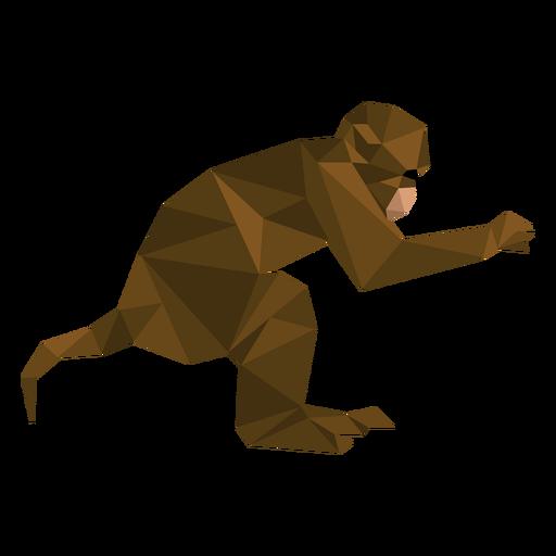 Mono capuchino saltando lowpoly Transparent PNG