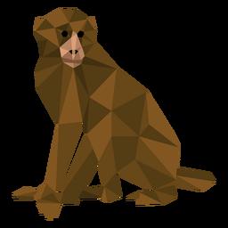 Macaco-prego baixo poli