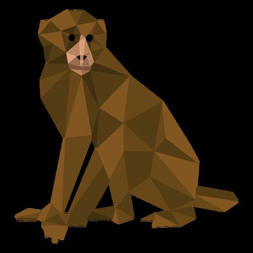 Macaco-prego baixo poli Transparent PNG