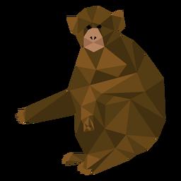 Mono capuchino sentado lowpoly