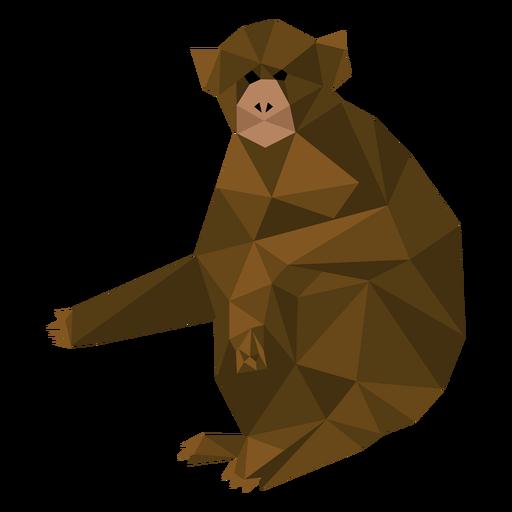 Mono capuchino sentado lowpoly Transparent PNG