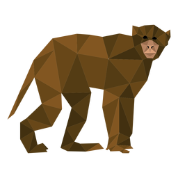 Capuchin monkey walking lowpoly