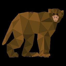 Macaco-prego caminhando lowpoly