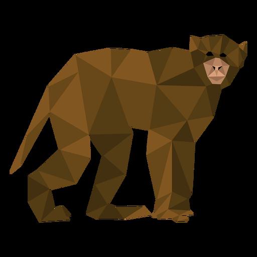 Macaco-prego caminhando lowpoly Transparent PNG