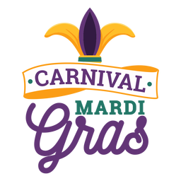Carnival mardi gras jester hat lettering