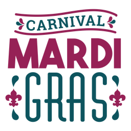 Carnival mardi gras lettering