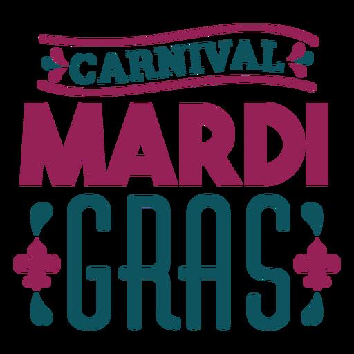 Carnival mardi gras lettering Transparent PNG