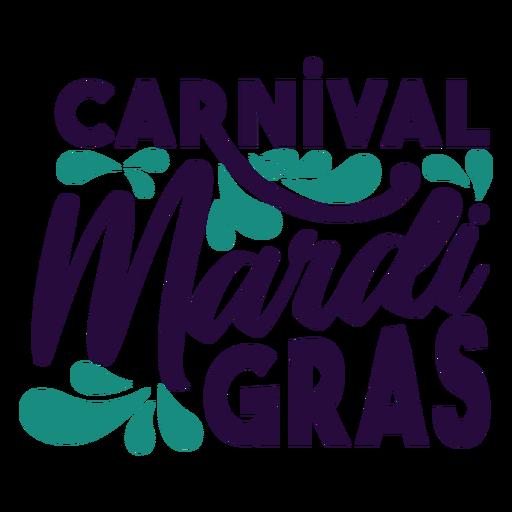Insignia de letras carnaval de carnaval Transparent PNG