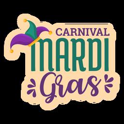 Pegatina de carnaval carnaval