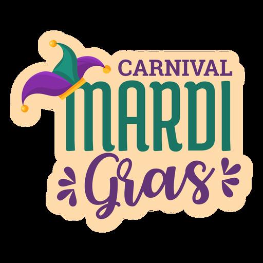 Etiqueta da rotulação do carnaval do carnaval Transparent PNG