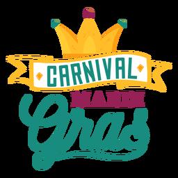 Carnival mardi gras ribbon lettering