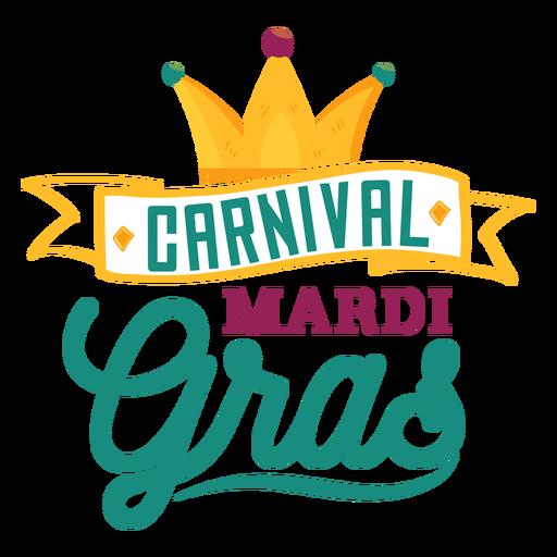 Letras de fita carnaval mardi gras Transparent PNG