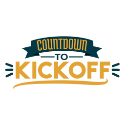 Countdown to kickoff badge