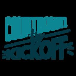 Countdown bis zum Startetikett