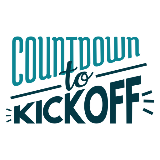 Countdown to kickoff label Transparent PNG