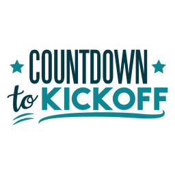 Countdown to kickoff lettering