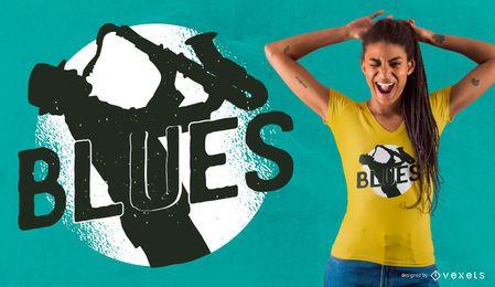 Diseño de camiseta de Blues Music