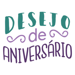 Desejo de Aniversario-Schriftzug