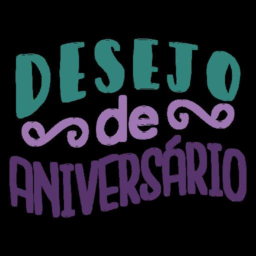 Letras de Desejo de aniversario Transparent PNG