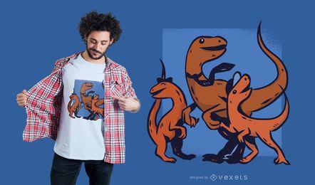 Diseño de camiseta padre dinosaurio