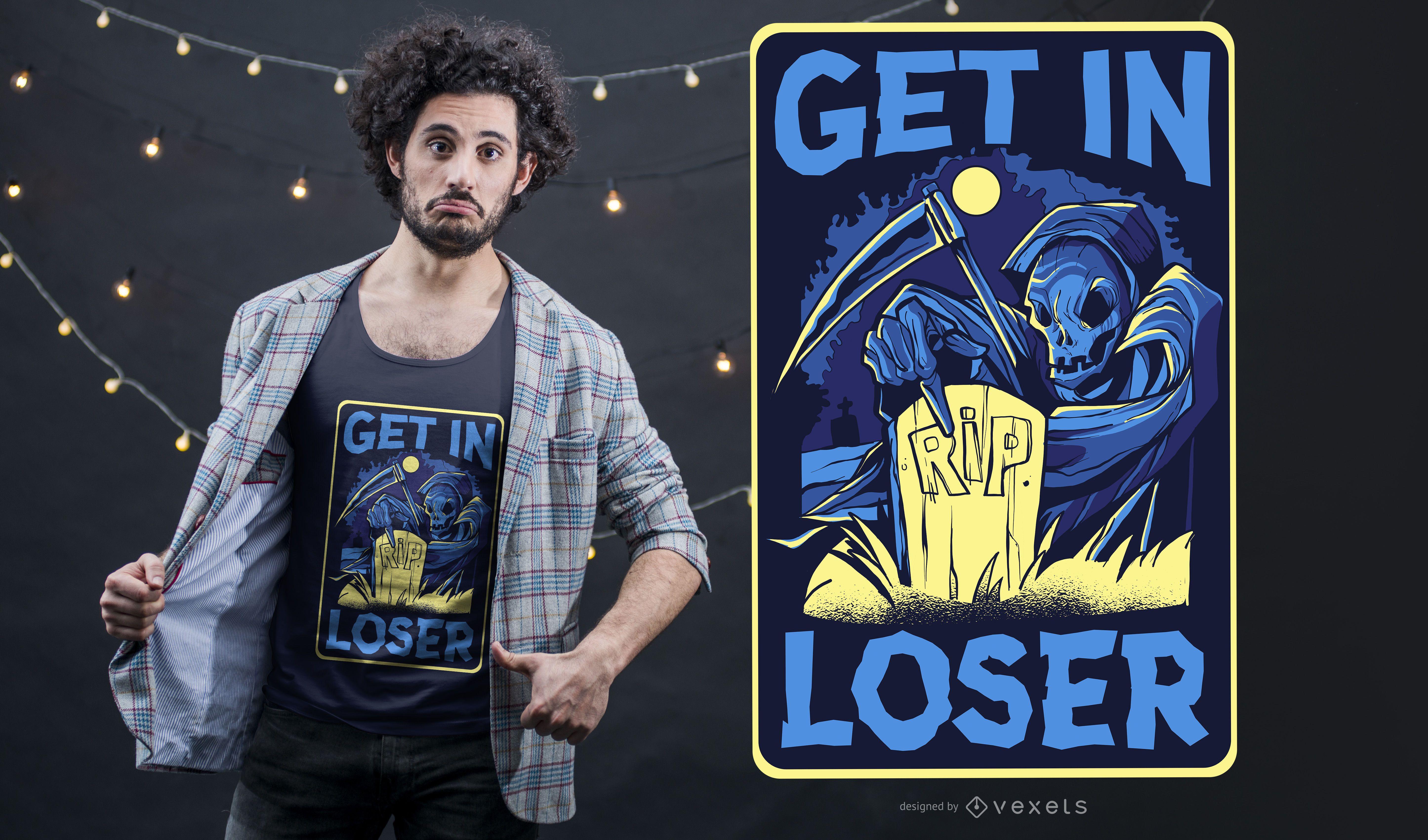 Funny Grim Reaper T-Shirt Design
