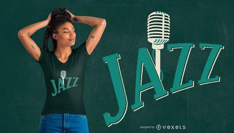 Diseño de camiseta de música jazz