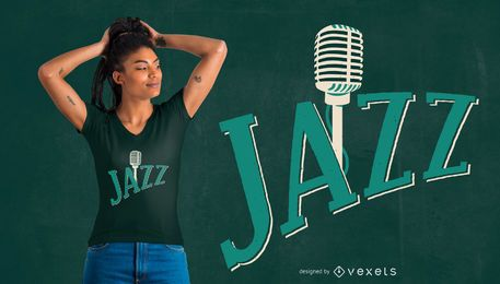 Jazz Musik T-Shirt Design
