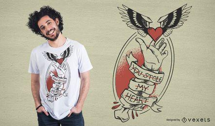 Stole My Heart T-Shirt Design