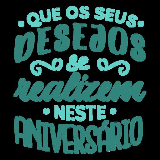 Desejos lettering