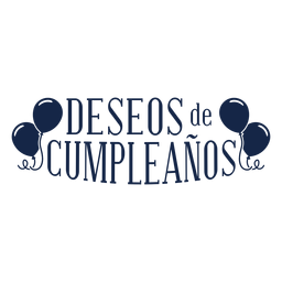 Deseos de cumpleanos lettering