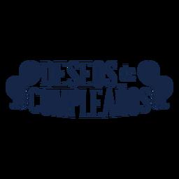 Deseos de cumpleanos-Schriftzug