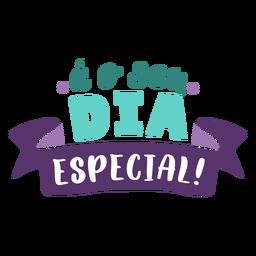 Letras especiais de dia
