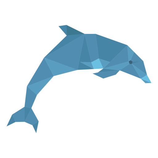 Dolphin jumping lowpoly Transparent PNG