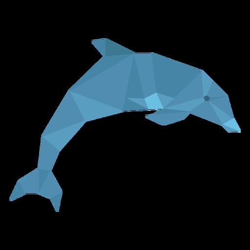 Golfinho saltando lowpoly Transparent PNG