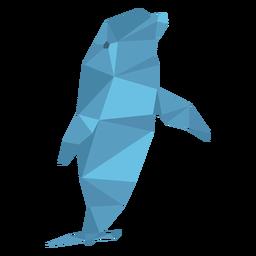 Delfin niedriger Poly
