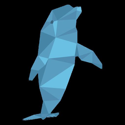 Delfín bajo poli Transparent PNG
