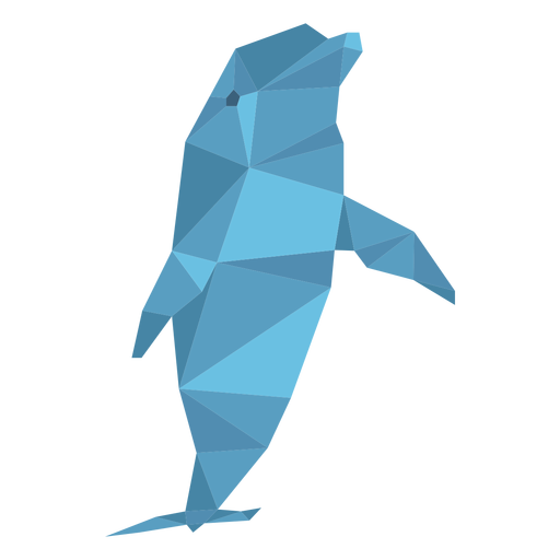 Dolphin low poly Transparent PNG