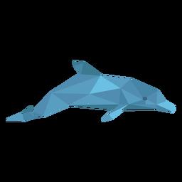 Vista lateral del delfín lowpoly