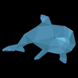Delfines nadando lowpoly