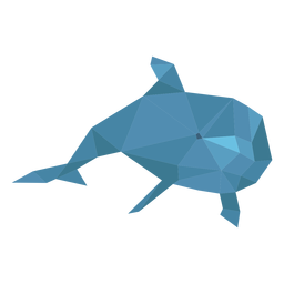 Dolphin swimming lowpoly