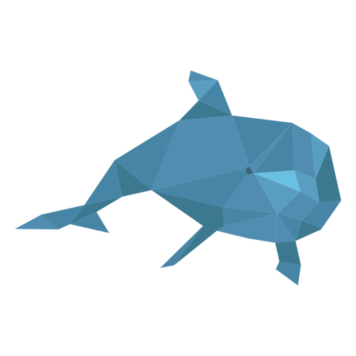 Dolphin swimming lowpoly Transparent PNG