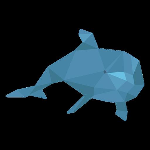 Lowpoly nadando con delfines