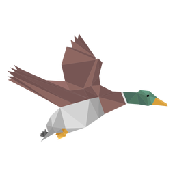 Duck flying lowpoly