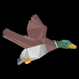 Pato volando lowpoly