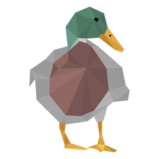 Duck front view lowpoly Transparent PNG